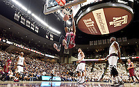 South Carolina's Chris Silva (30) dunks the ball against Texas A&M during the second half of an NCAA college basketball game, Saturday, Feb. 6, 2016, in College Station, Texas. South Carolina won 81-78.  (AP Photo/Sam Craft)