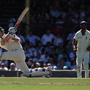 Australian batsman Michael Clarke in action during day four of the third test match between Australia and South Africa at the Sydney Cricket Ground on January 6, 2009 in Sydney, Australia. Photo Tim Clayton