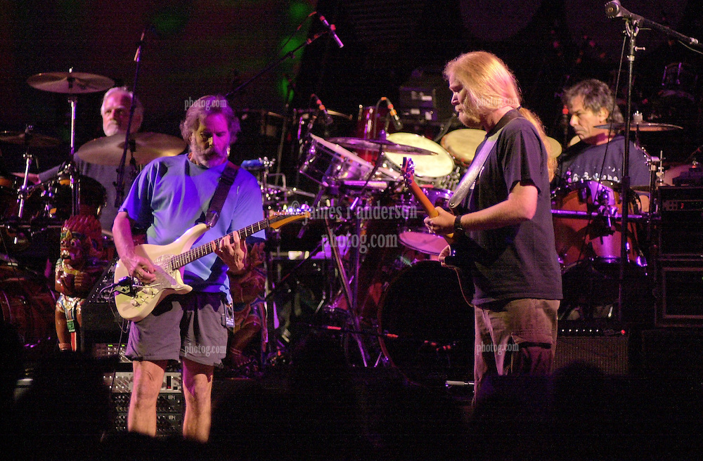Billy, Bobby, Jimmy and Mickey. The Dead in concert at Saratoga Performing Arts Center 20 June 2003