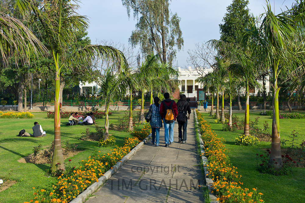Indian students at Delhi University in former Viceroy's Residence, New Delhi, India