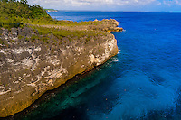 Warrior's Leap (cliffs), Island of Mare, Loyalty Islands, New Caledonia