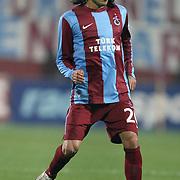 Trabzonspor's Gustavo Colman during their Turkish superleague soccer derby match Trabzonspor between Besiktas at the Avni Aker Stadium in Trabzon Turkey on Sunday, 27 November 2011. Photo by TURKPIX