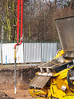 cement delivery to a building site