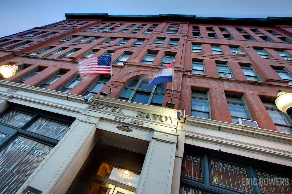 Savoy Hotel at 9th & Central, downtown Kansas City, MO.