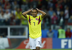 July 3, 2018 - Moscow, Russia - Round of 16 England v Colombia - FIFA World Cup Russia 2018..The dejection of Carlos Bacca (Colombia) at Spartak Stadium in Moscow, Russia on July 3, 2018. (Credit Image: © Matteo Ciambelli/NurPhoto via ZUMA Press)