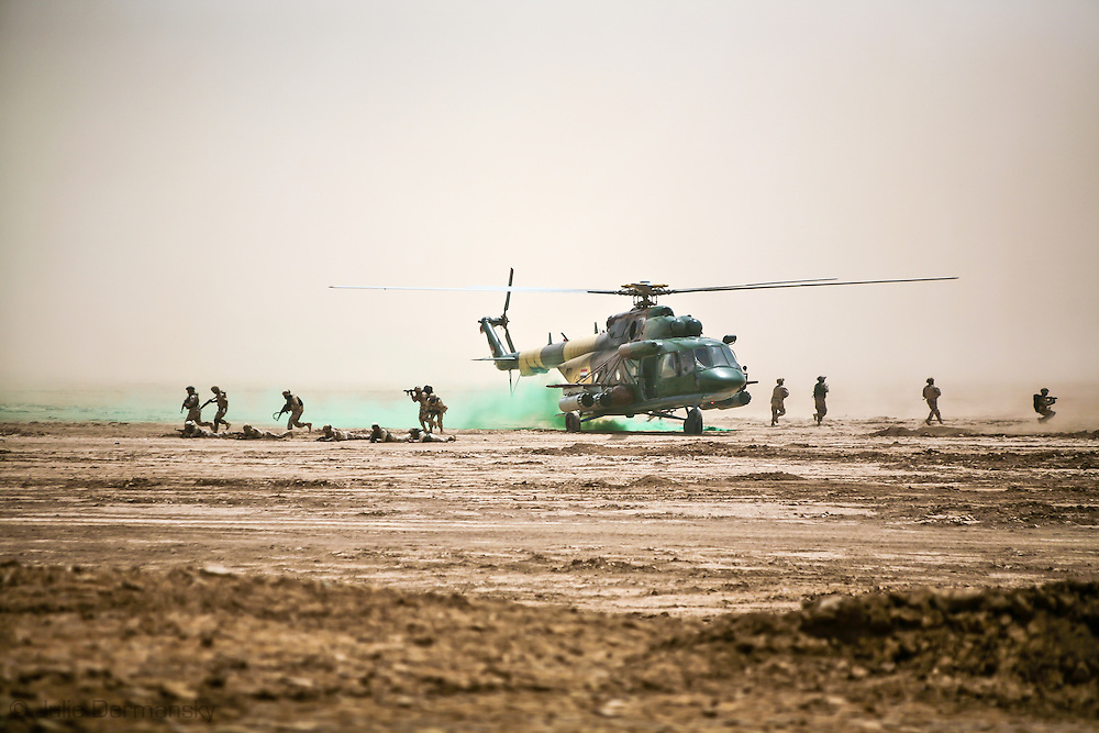 Iraqi military ive fire exercise in An Nasiriyah Province in Iraq.