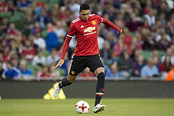 August 2, 2017 - Dublin, Ireland - Chris Smalling of Manchester Utd in action during the Pre-Season Friendly match between Manchester United and Sampdoria at Aviva Stadium in Dublin, Ireland on August 2, 2017  (Credit Image: © Andrew Surma/NurPhoto via ZUMA Press)