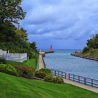 """""""Charlevoix""""<br /> <br /> Enjoy this lovely scene on an early fall morning in Charlevoix Michigan!"""