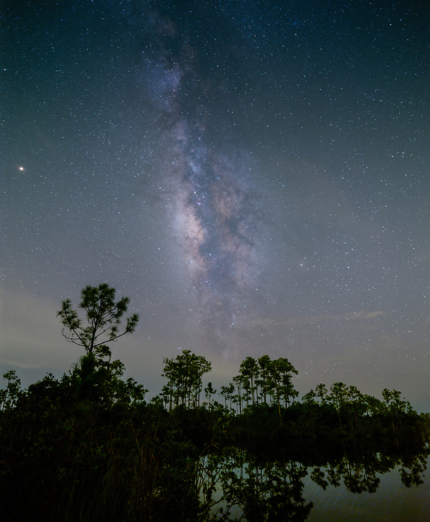 MIAMI, FLORIDA - CIRCA SEPTEMBER 2018:  Milky Way over the Florida Everglades near Miami.