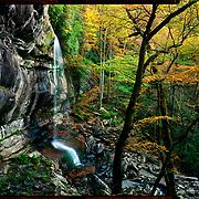 Rainbow Falls, Great Smoky Mountains National Park. 4x5 Kodak Ektar 100. photo by Nathan Lambrecht