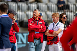 BECKER Otto (Bundestrainer Springen), EHNING Marcus (GER)<br /> Rotterdam - Europameisterschaft Dressur, Springen und Para-Dressur 2019<br /> Parcoursbesichtigung<br /> Longines FEI Jumping European Championship - 1st part - speed competition against the clock<br /> 1. Runde Zeitspringen<br /> 21. August 2019<br /> © www.sportfotos-lafrentz.de/Stefan Lafrentz