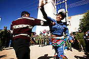 Anarchy in the Andes, Potosi Inka's gather in Macha for the annual Tinku festival to worship pachamama the mother earth