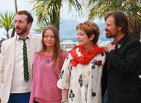 Esteban Bigliardi, Viilbjork Malling Agger, Ghita Norby, and  Viggo Mortensen at the photo call for the film Jauja at the 67th Cannes Film Festival, Sunday 18th May 2014, Cannes, France.