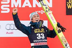 19.12.2015, Gross Titlis Schanze, Engelberg, SUI, FIS Weltcup Ski Sprung, Engelberg, im Bild der älteste Teilnehmer Noriaki Kasai (Japan, 3. Platz) // during mens FIS Ski Jumping World Cup at the Gross Titlis Schanze in Engelberg, Switzerland on 2015/12/19. EXPA Pictures © 2015, PhotoCredit: EXPA/ Eibner-Pressefoto/ Socher<br /> <br /> *****ATTENTION - OUT of GER*****