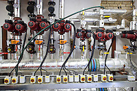 controls of a large woodchip boiler