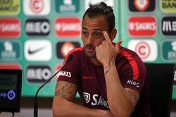 June 7, 2017 - Lisbon, Portugal - Portugal's goalkeeper Beto attends a press conference before a training session at ''Cidade do Futebol'' (Football City) training camp in Oeiras, outskirts of Lisbon on June 7, 2017, ahead of the FIFA World Cup Russia 2018 qualifier match Latvia vs Portugal. Photo: Pedro Fiuza. (Credit Image: © Pedro Fiuza via ZUMA Wire)