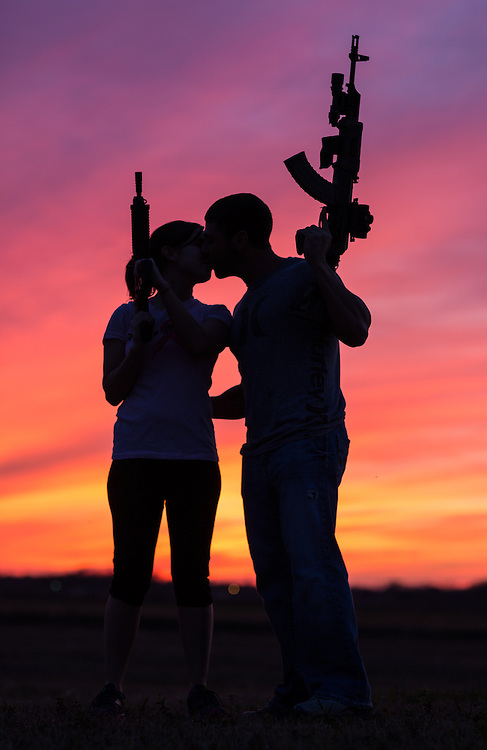 Couple with AR-15's