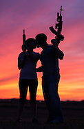 Couple with AR-15's