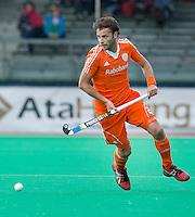 ROTTERDAM - HOCKEY - Rogier Hofman tijdens de wedstrijd tussen de mannen bvan Nederland en Nieuw Zeeland (3-3)  bij de Rabobank Hockey World League in Rotterdam. ANP KOEN SUYK