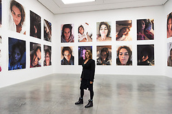 © Licensed to London News Pictures. 04/02/2019. London, UK. Artist Tracey Emin with her Insomnia Room installation by artist Tacey Emin. The art work is showing as part of the 'A Fortnight of Tears Exhibiton' at The White Cube gallery. Editorial usage only. Photo credit: Ray Tang/LNP