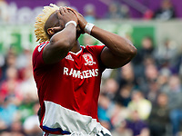 Football - 2016 / 2017 Premier League - Swansea City vs. Middlesbrough<br /> <br /> Adama Traoré of Middlesbrough holds his head after missing a shot at goal , at The Liberty Stadium.<br /> <br /> COLORSPORT/WINSTON BYNORTH