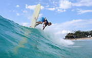 March 23, 2010: Jared Neal surfs at Snapper Rocks on the Gold Coast. Photo by Matt Roberts