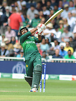 Cricket - 2019 ICC Cricket World Cup - Group Stage: England vs. Pakistan<br /> <br /> Sarafaraz Ahmed of Pakistan hits a six, at Trent Bridge, Nottingham.<br /> <br /> COLORSPORT/ANDREW COWIE