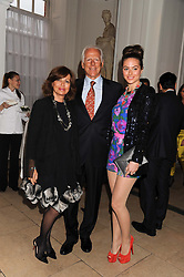 MICHAEL & PILAR BOXFORD and their daughter SASKIA WINBERGH at a reception to present the new Cartier Tank Watch Collection held at The Orangery, Kensington Palace Gardens, London W8 on 19th April 2012.