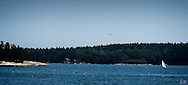 Panorama from Friendship, Maine at the height of summer.