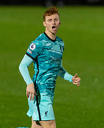 LONDON, ENGLAND - Friday, October 30, 2020: Liverpool's Sepp Van Den Berg during the Premier League 2 Division 1 match between Arsenal FC Under-23's and Liverpool FC Under-23's at Meadow Park. Liverpool won 1-0. (Pic by David Rawcliffe/Propaganda)