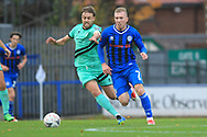 Stephen Dooley runs forward during the The FA Cup 1st round match between Rochdale and Gateshead at Spotland, Rochdale, England on 10 November 2018.