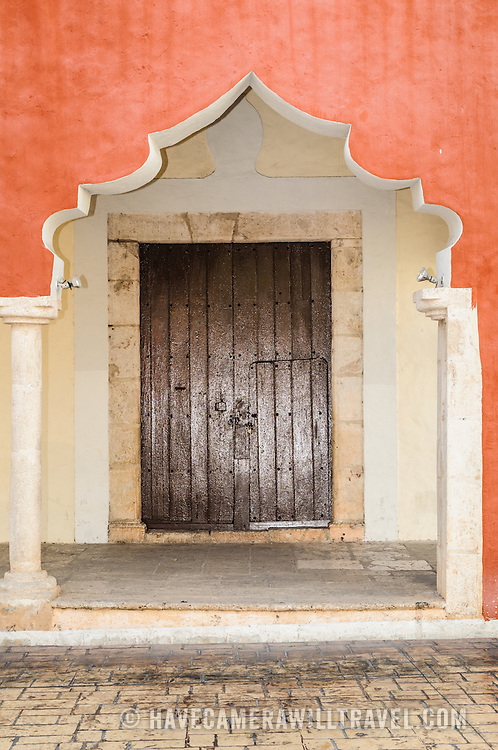 Spanish colonial archives of the Candelaria Church in Valladolid, a colonial town in Yucatan, Mexico.