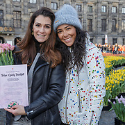 NLD/Amsterdam/20190119 - Nationale Tulpendag 2019, doop tulp Quinty Trustfull, Quinty Trustfull en dochter Moise Trustfull