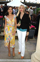 Left to right, YASMIN MILLS and ALLEGRA HICKS at Michele Watches Kaleidoscope Summer Garden Party held at Home House, Portman Square, London on 15th June 2005.<br /><br />NON EXCLUSIVE - WORLD RIGHTS