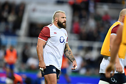 Joe Marler of England during the pre match warm up<br /> <br /> Photographer Craig Thomas/Replay Images<br /> <br /> Quilter International - England v Italy - Friday 6th September 2019 - St James' Park - Newcastle<br /> <br /> World Copyright © Replay Images . All rights reserved. info@replayimages.co.uk - http://replayimages.co.uk
