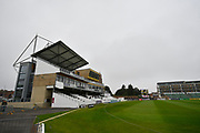 The Coopers Associate County Ground Stadium under gray skies before the Specsavers County Champ Div 1 match between Somerset County Cricket Club and Middlesex County Cricket Club at the Cooper Associates County Ground, Taunton, United Kingdom on 26 September 2017. Photo by Graham Hunt.