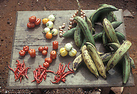 market and vegetables in Ghana.