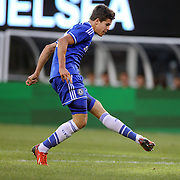 Marco van Ginkel, Chelsea, shoots during the Chelsea V AC Milan Guinness International Champions Cup tie at MetLife Stadium, East Rutherford, New Jersey, USA.  4th August 2013. Photo Tim Clayton