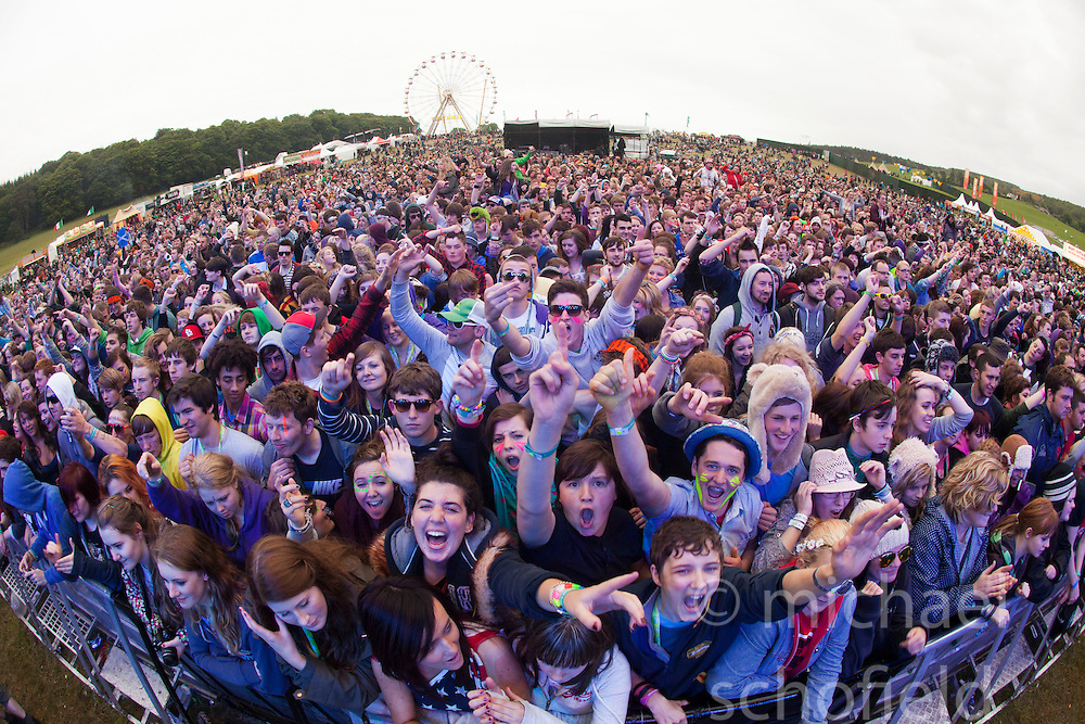 The crowd at the main stage..Saturday at Rockness 2012..©Michael Schofield..