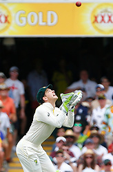 Austalia's Tim Paine takes the catch to dismiss Jonny Bairstow during day two of the Ashes Test match at The Gabba, Brisbane.