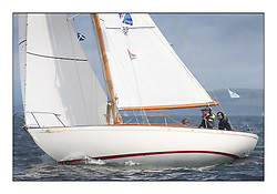The final day of racing of the Fife Regatta on the King's Course North of Great Cumbrae<br /> <br /> Ellad, Didier Griffiths, FRA, Bermudan Sloop, Fairlie Yacht Services 1957<br /> * The William Fife designed Yachts return to the birthplace of these historic yachts, the Scotland's pre-eminent yacht designer and builder for the 4th Fife Regatta on the Clyde 28th June–5th July 2013<br /> <br /> More information is available on the website: www.fiferegatta.com