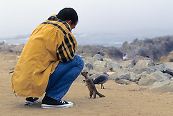 Person & Ground Squirrel