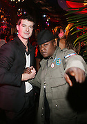 l to r: Robin Thicke and Jadakiss at the Robin Thicke?s Album Release ' Something Else' with Exclusive Event at Rainbow Room sponsored by Target on September 20, 2008 in New York City.