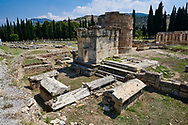 Picture of Tomb A2 of the North Necropolis. Hierapolis archaeological site near Pamukkale in Turkey. .<br /> <br /> If you prefer to buy from our ALAMY PHOTO LIBRARY  Collection visit : https://www.alamy.com/portfolio/paul-williams-funkystock/pamukkale-hierapolis-turkey.html<br /> <br /> Visit our TURKEY PHOTO COLLECTIONS for more photos to download or buy as wall art prints https://funkystock.photoshelter.com/gallery-collection/3f-Pictures-of-Turkey-Turkey-Photos-Images-Fotos/C0000U.hJWkZxAbg