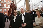 Sir Elton John, Neil Tenant and Lily Safra, Ark Gala Dinner, Marlborough House, London. 5 May 2006. ONE TIME USE ONLY - DO NOT ARCHIVE  © Copyright Photograph by Dafydd Jones 66 Stockwell Park Rd. London SW9 0DA Tel 020 7733 0108 www.dafjones.com