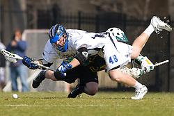 23 February 2008: Duke Blue Devils men's lacrosse midfielder Rob Wellington (48) in a 19-7 win over the Vermont Catamonts at Koskinen Stadium in Durham, NC