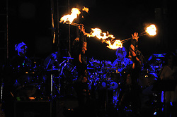 Rhythm Devils, Bill Kreutzmann and Mickey Hart, Performing with Fire Dancers! The Gathering of the Vibes, Seaside Park, Bridgeport CT 31 July 2010.