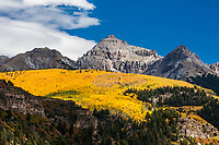 Autumn season in the San Juan Mountains near Telluride, Colorado.