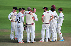 Somerset celebrate the wicket of Chris Read.  - Mandatory by-line: Alex Davidson/JMP - 22/09/2016 - CRICKET - Cooper Associates County Ground - Taunton, United Kingdom - Somerset v Nottinghamshire - Specsavers County Championship Division One