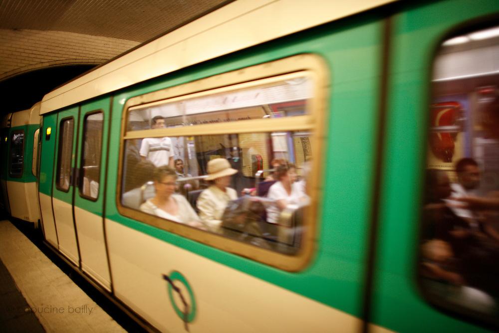 Thursday July 17th 2008. Paris, France..In the subway..La Tour Maubourg Station - 7th Arrondissement.